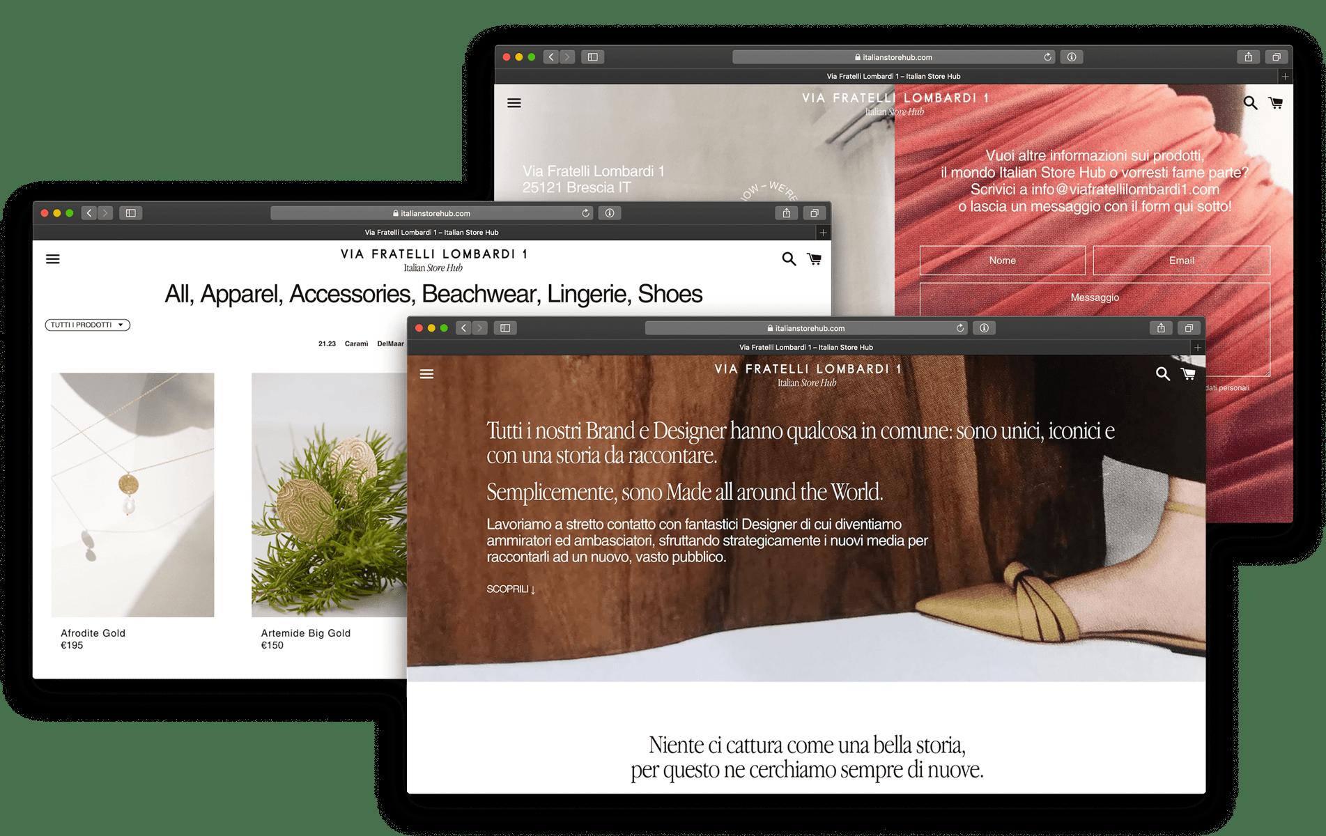 Via Fratelli Lombardi 1, Italian Store Hub – graphic and web design Another Studio, Brescia, 2019